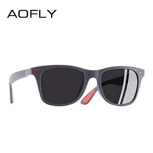 dff1ccda11 AOFLY BRAND DESIGN Classic Polarized Sunglasses Men Women Driving Square  Frame Sun Glasses Male Goggle UV400 Gafas De Sol AF8083: Amazon.co.uk:  Clothing