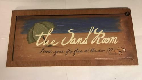 - CS Shop The Sand Room Leave Flip Flops at The Door Remove Shoes Wood mud Room Sign 5x11'',