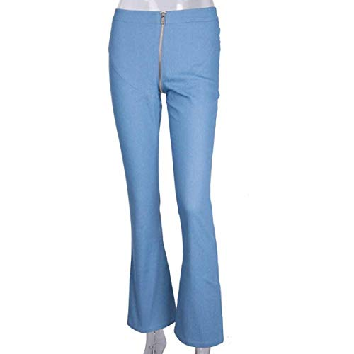 Taille Jeans Haute en Jean Bleu Pantalons rwgRtw