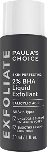 (Paula's Choice-SKIN PERFECTING 2% BHA Liquid Salicylic Acid Exfoliant-Facial Exfoliant for Blackheads, Enlarged Pores, Wrinkles, Fine Lines-1-1oz. Bottle - Travel)