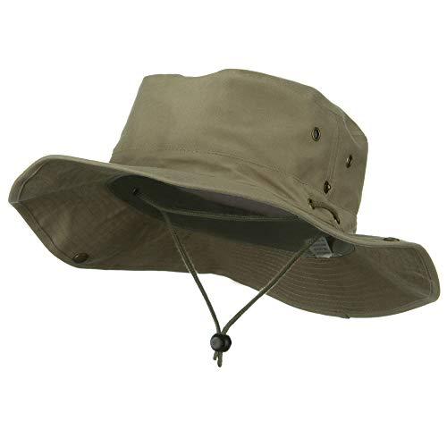 (Extra Big Size Brushed Twill Aussie Hats -Khaki)