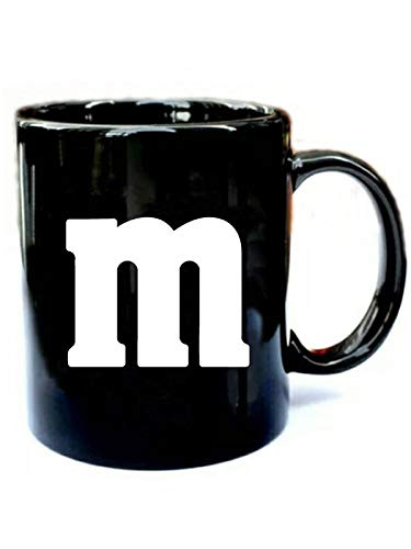 (M Candy Easy Halloween Costumes - Funny Gift Black 11oz Ceramic Cozy Coffee)