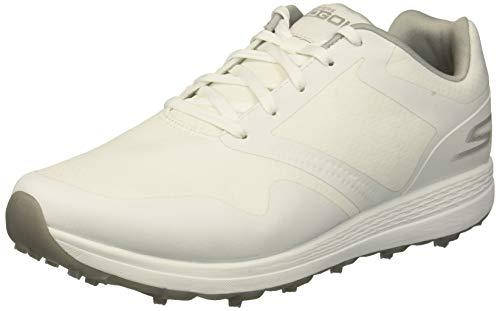 Skechers Women's Max Golf Shoe, White/Gray, 8 W US