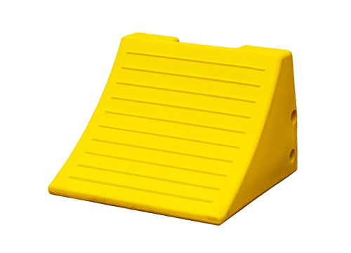 Checkers Industrial Safety Products MC3009 Light Weight Wheel Chock, 15'' x 15.1'' x 11'', Yellow