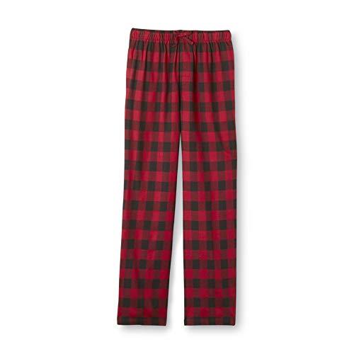 (Joe Boxer Men's Fleece Lounge Pajama Pants Red & Black Plaid 3XL 3X)