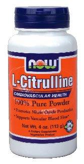 Now Foods L-citrulline poudre pure - 4 oz. (Multi-Pack)