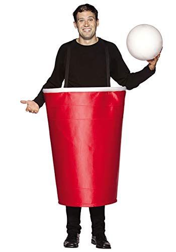 Rasta Imposta Beer Pong Cup Costume, Red, One Size -