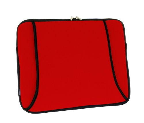 - Sumdex DigiPod Neoprene Notebook Sleeve for up to 14.1-Inch Screensize (Hibiscus Red)