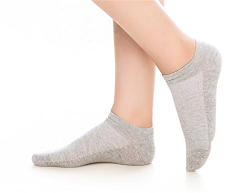 10 Pair Women's And Girl's Cotton Sneaker No Show Summer Socks MEIT-sneaker-grey-S/M (Sneakers Summer)
