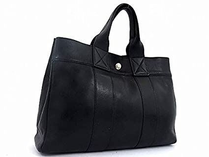 5e5508ce4860 Amazon.co.jp | HERMES エルメス フールトゥPM オールレザー トートバッグ ハンドバッグ | ホビー 通販