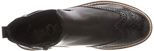 Boots Damen 25444 Schwarz Chelsea Oliver Black 21 1 s UqXnwZW1w