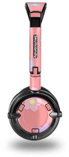 Pastel Flowers on Pink Decal Style Skin fits Skullcandy Lowrider Headphones (HEADPHONES SOLD SEPARATELY)