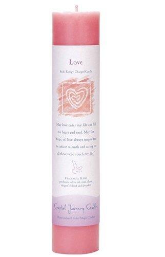 Love Pillar Candle - Crystal Journey, Candle Pillar Love