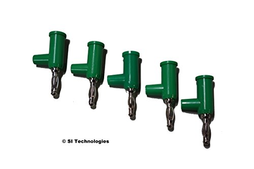 - T4SI Green Stackable Solderless Banana Plugs