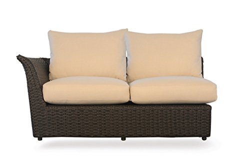 Lloyd Flanders Flair Right Arm Love Seat , Espresso Vinyl & Deville Peat fabric