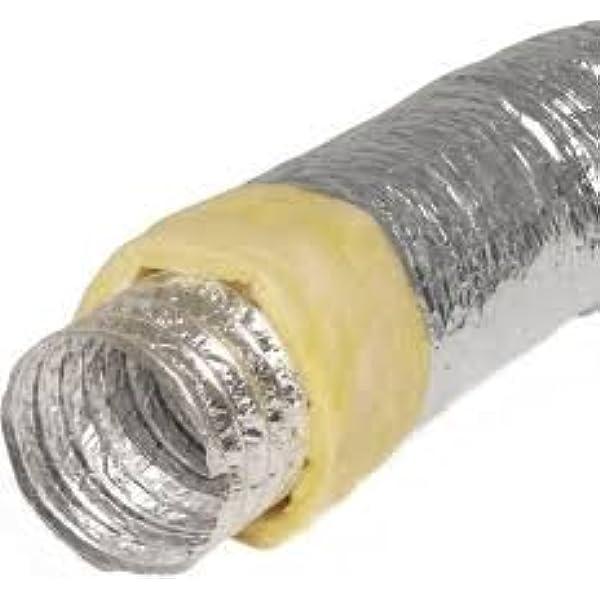 Tubo de aluminio flexible aislado térmicamente, tubo de ventilación: Amazon.es: Bricolaje y herramientas