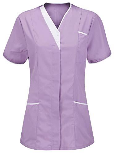 blanc Courtes Uni Violet Lilas 21fashion Manches T shirt Femme qO88wf7
