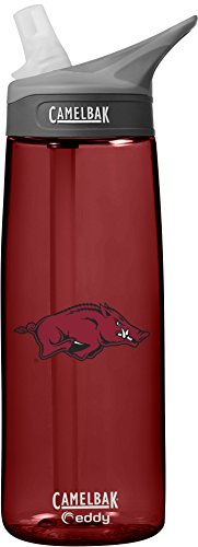 Arkansas Razorbacks Bottle (NCAA Arkansas Razorbacks Unisex CamelBak Eddy 75L Collegiate Water Bottle, Cardinal, 75 Liter)