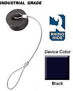 Leviton 49DSM 49 Series, Dust Cover, Rhino-Hide Single Pole Male Connector, Santoprene TPV, Black