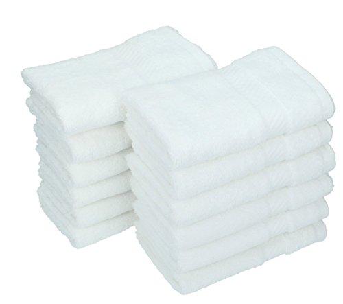 Betz 12 Stück Gästetücher Gästehandtücher 100% Baumwolle Größe 30x50 cm Handtücher Set Palermo Farbe Weiß