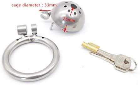 Pllxq メンズCb6000sメディカルメタルステンレス鋼の貞操ロック/アンチオナニーおもちゃ (Size : 50mm)