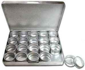 5 1//2 X 1 Aluminium Box Travel Size Aluminum Bead Storage Box 20 small 20x30mm Containers with Clear Tops All in a Compact 6 1//2 Fits Right Into Your Purse Beadsmith AB20
