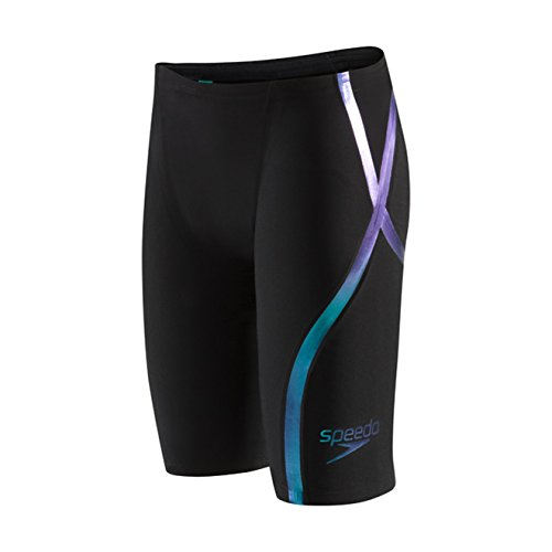 Fastskin Racing Swimwear (Speedo Fastskin LZR Racer X High Waist Jammer Male Black/Blue)
