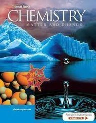 Chemistry Matter and Change Florida Edition by Dingrando, Et Al [McGraw-Hill/Glencoe,2006] [Hardcover]