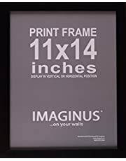 Imaginus Black MDF Wood Frame with Presence! (11 x 14 inches)