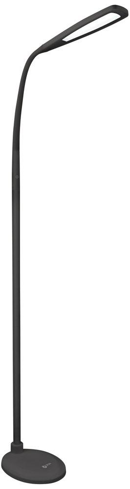 OTT-LITE Felix LED Gooseneck Task Floor Lamp Black