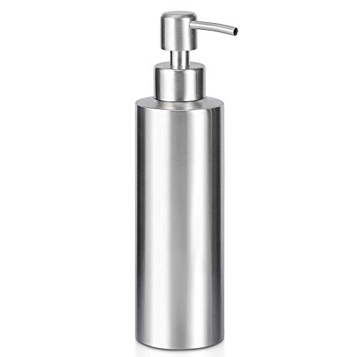 ARKTEK Soap Dispenser - Stainless Steel Rust Proof System Hand Soap Dispenser, Kitchen Sink and Bathroom Pump for Liquid (11.8 Ounce / 350 ml) (Dishwashing Liquid Soap Dispenser)