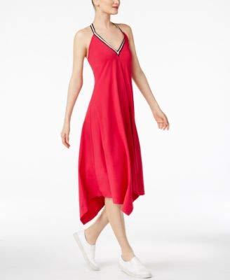 Cynthia Rowley Womens Halter Sleeveless Casual Dress Pink XL from CR By Cynthia Rowley