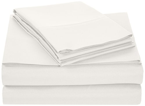 AmazonBasics Microfiber Sheet Set Cream