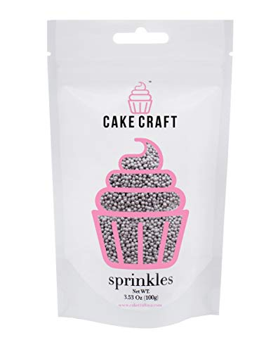 Cake Craft - Sprinkles - Silver 4mm Nonpareils - 100g Bag – For Cake -