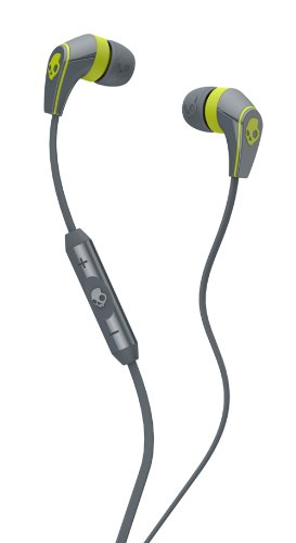 Skullcandy 50/50 Earbuds with Mic3 Hot Lime, One Size