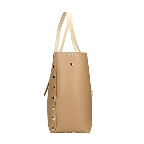 Boue Boue Crème Cm en femme Sac Bags POP in Italy cuir Impression main véritable Made à Saffiano 34x31x15 SHTZxWawq