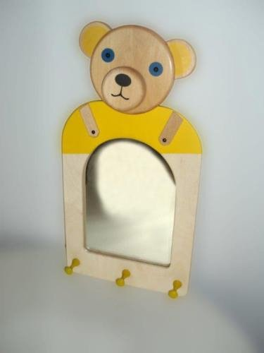 Madera perchero oso con espejo Niños perchero schminkg ...