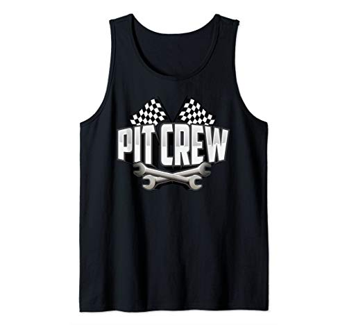 Cute Scruff Pit Crew For Art Race Car Parties Tank Top