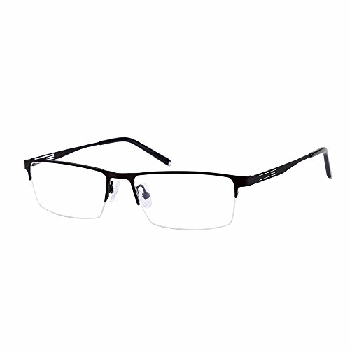 - Shortsighted Glasses Titanium Alloy Half-Frame Myopia Glasses -0.50 Men Women Black ***Please kindly note these are not reading glasses***