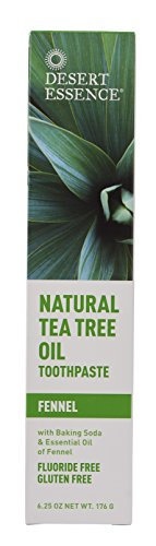 Desert Essence Toothpaste Tea Tree Fennel, 6.25 Ounce (Plant Essence)