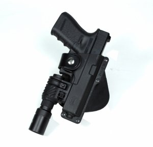 Concealed Carry Fobus Tactical Holster S&W M&P Compact and SD9/SD40 Paddle Pouch HandGun & Pistol - Lite Trigger Frame