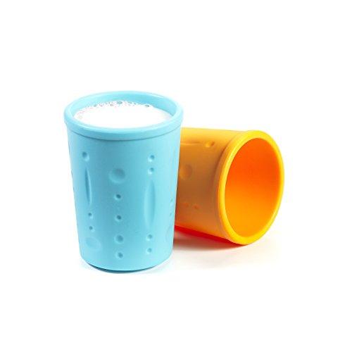 Kinderville Little Bites Cups (Set of 2, Blue / Orange)