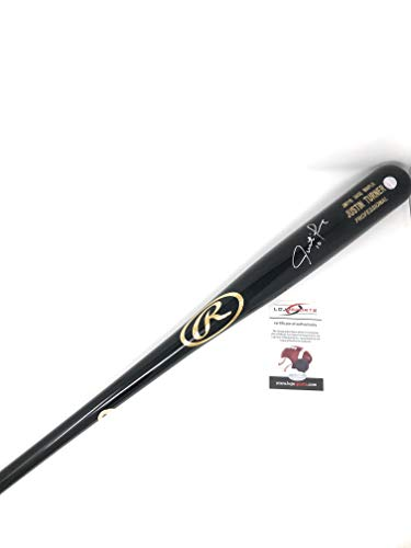 Justin Turner Los Angeles Dodgers Signed Autograph Game Model Baseball Bat LoJo Sports Certified from Mister Mancave