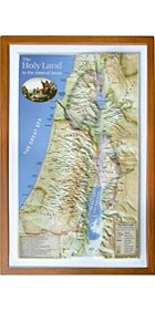 Raised Relief 3D Map of Israel in Jesus' Time (Shows Place Names Under Roman Rule) ()