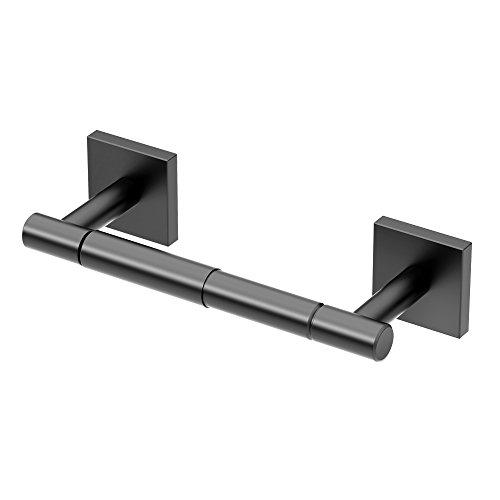 Standard Paper Holder - Gatco 4053AMX Elevate Bathroom Standard Toilet Paper Holder, Matte Black