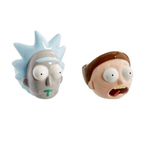 Multi-Coloured Rick and Morty Unisexs RM05978 Egg Cups One Size