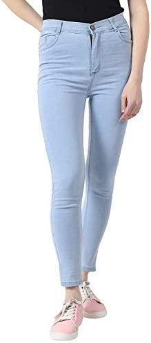 HOVAC Women's Stretchable Slim Fit Ankle Length Stylish Denim Jeans – Ice Blue