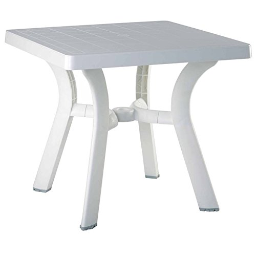 Viva Resin Square Dining Table 31 Inch (White) (29