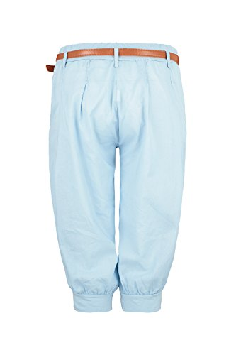 L Ao Court Clair Pantalon Taille Chino S Capri Bleu fx7H7Znw