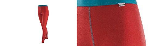Janus 100% Merino Wool Women's Leggings Machine Washable Made in Norway (X-Small, Coral)